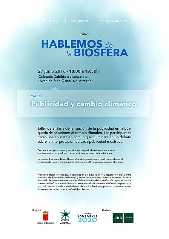 Taller de Trabajo: Publicidad y Cambio Climático