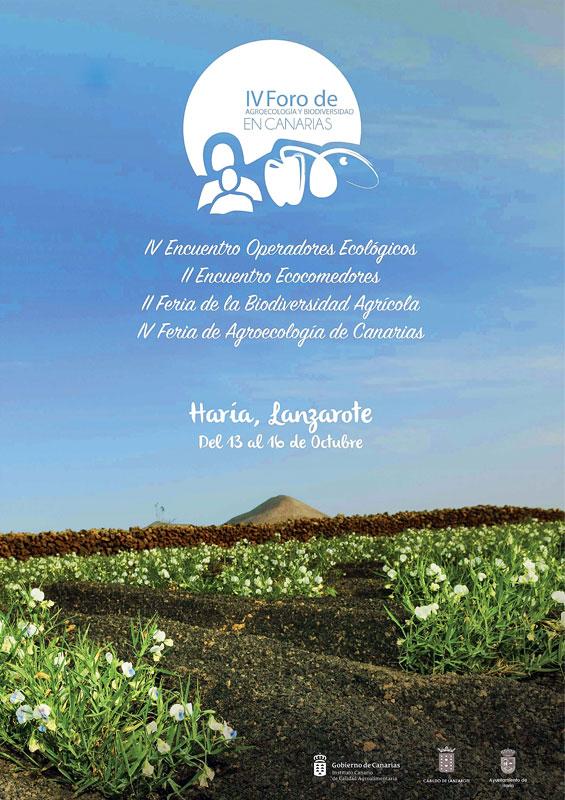 Lanzarote acogerá en octubre el IV Foro de Agroecología y Biodiversidad de Canarias