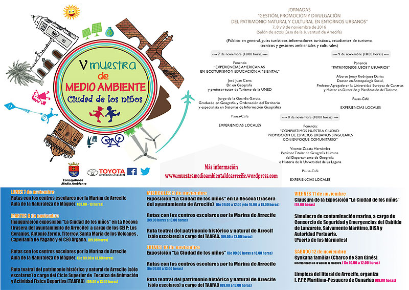 """V Muestra Medioambiental de Arrecife 2016 """"Ciudad de Los Niños"""""""