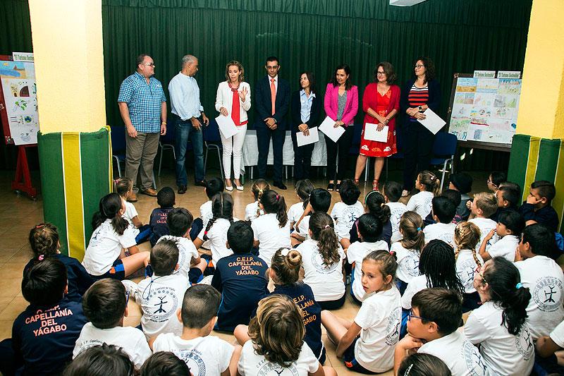 Tres alumnos del colegio CEIP Capellanía y un estudiante de Nuestras Señora de los Volcanes, vencedores del  X Concurso de Dibujo de ASOLAN
